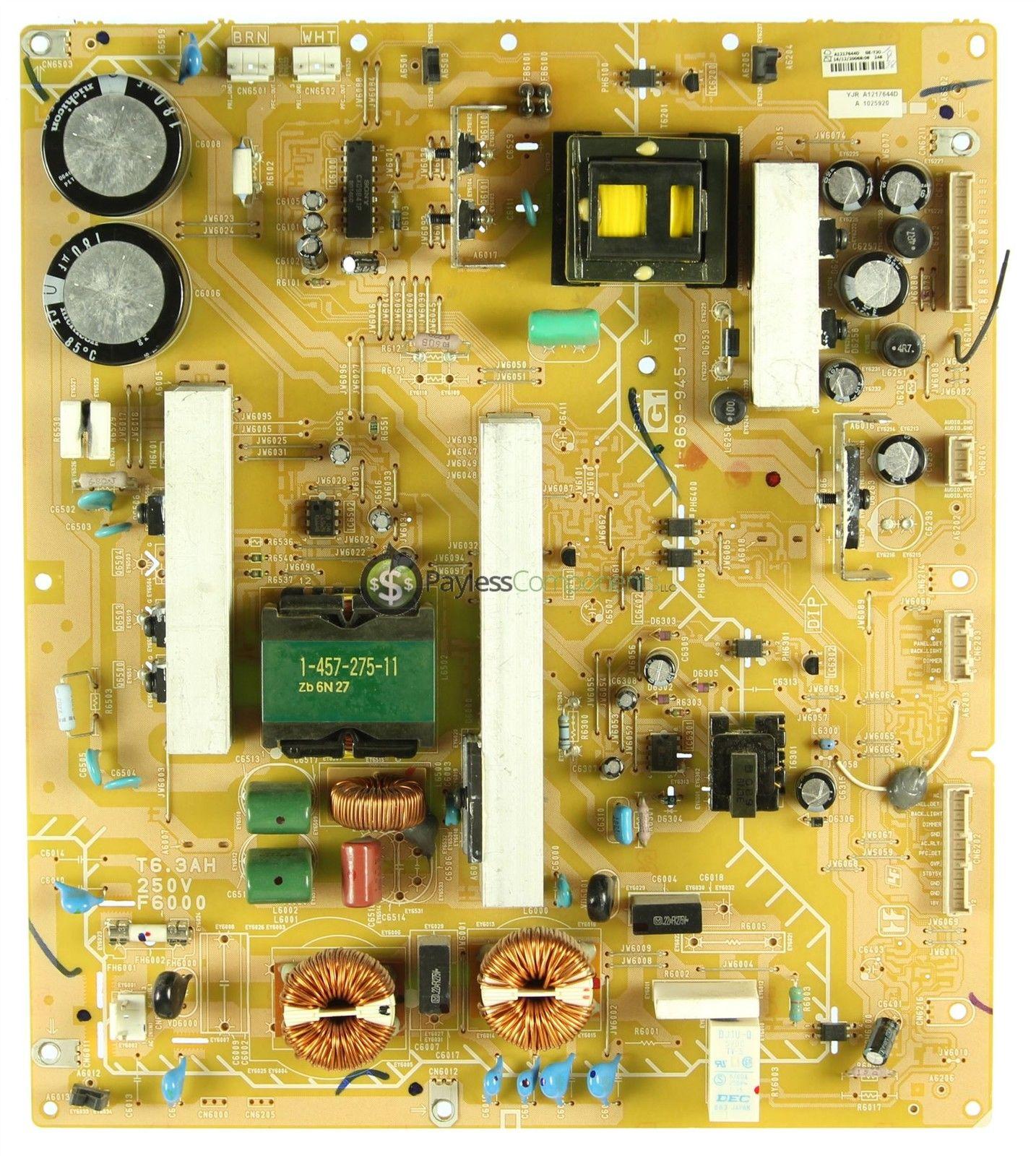 40 KDL-40XBR3 A-1217-644-D Power Supply Board Unit